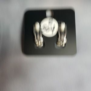 paparazzi Jewelry - New Earrings CLIP ON Silver with CZs